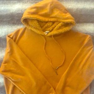Mustard color hoodies from sky and sparrow!